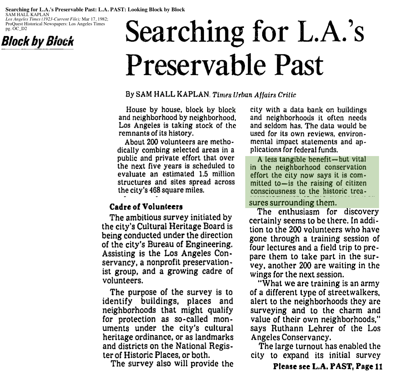 1982-Searching for L.A.'s Preservable Past