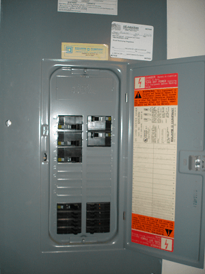 main electrical panel in Orlando home inspection