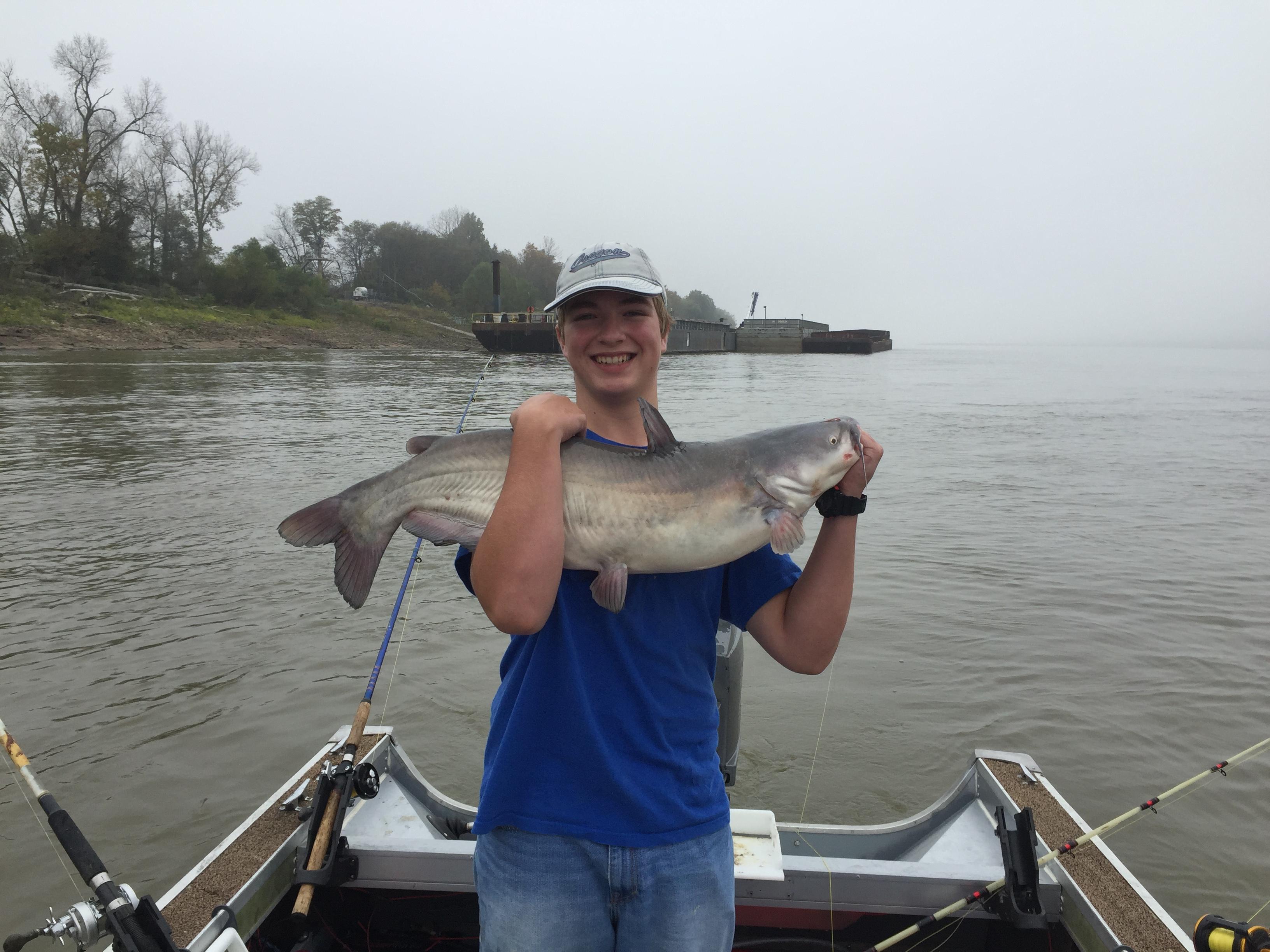 24 lb Mississippi River Blue Catfish
