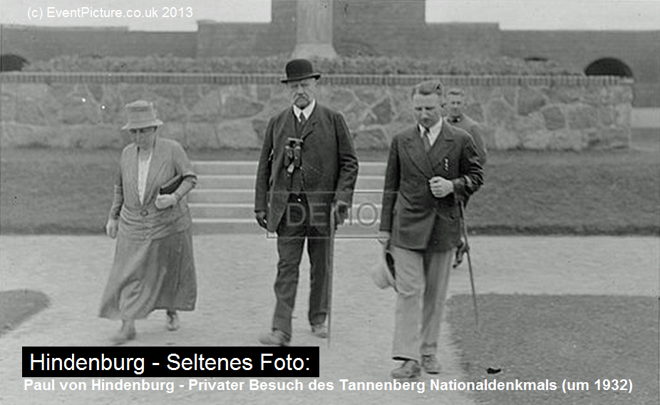 Hindenburg at Tannenberg Memorial (Private photo, 1934)