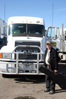 Cal Cavendish and his truck